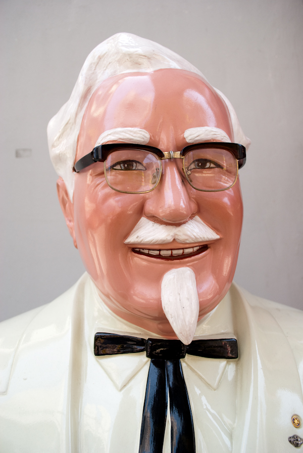 Colonel Sanders face