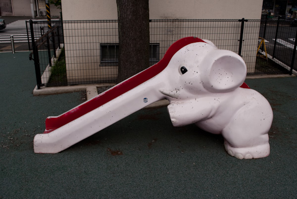 Tokyo elephant slide