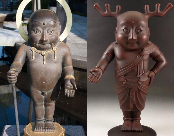 Sento-kun sculptures