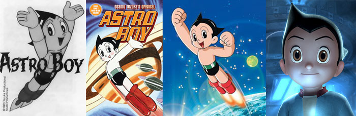 Astro Boy character designs
