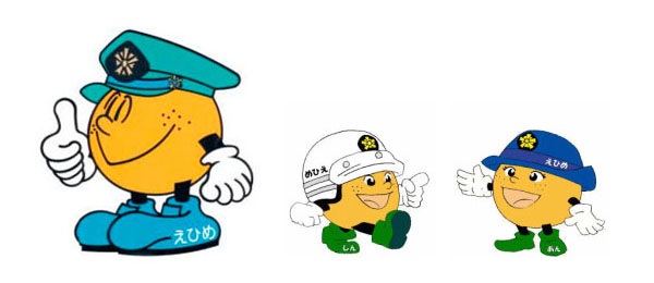 Ehime police mascots