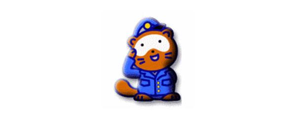 Shiga police mascot