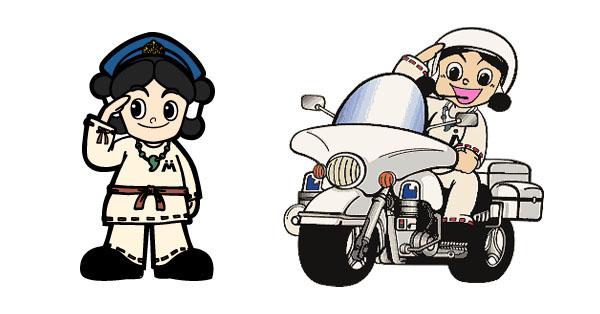 Miyazaki police mascot