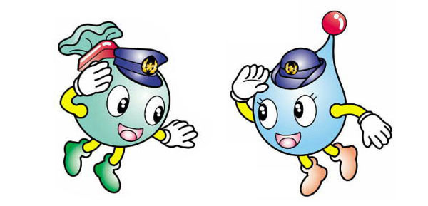 Iwate police mascots