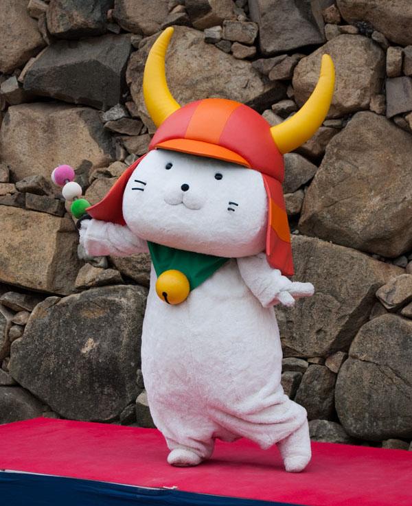 Hikone mascot samurai cat